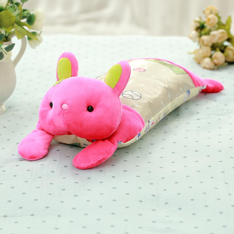羊驼儿童卡通动物冰丝趴枕乳胶枕头宝宝小枕头
