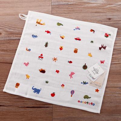 内野进口accototo小动物儿童纱布方巾