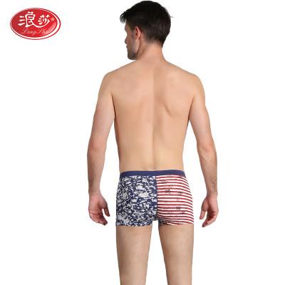 2条装浪莎男士内裤高档纯棉舒适印花平角裤透气三角裤头怎么样