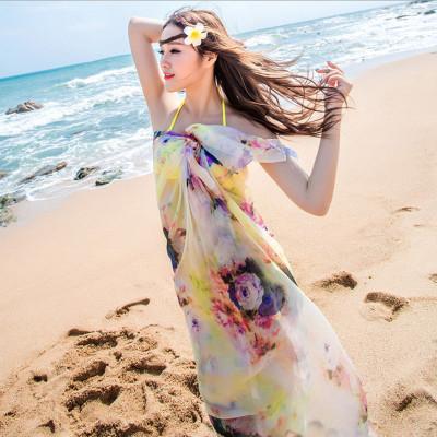 海边防晒沙滩巾丝巾 空调披肩