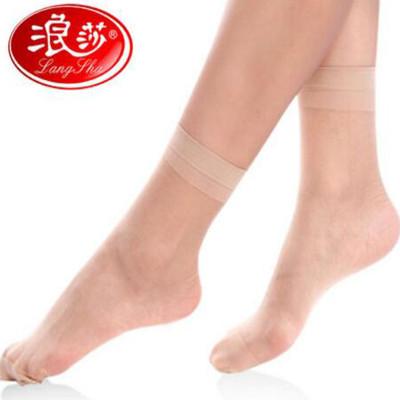 Z216浪莎5双装包芯丝短丝袜女防勾丝女士夏季薄款丝袜子女超薄肉色丝袜短袜怎么样