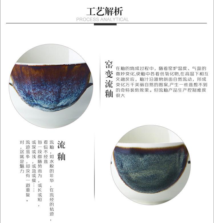瓷彩美 套装创意手绘碗碟家用陶瓷碗盘 日式餐具套装碗盘组合套装 送