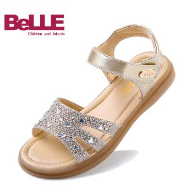 百丽 儿童凉鞋女童鞋低跟学生鞋公主鞋平底鞋