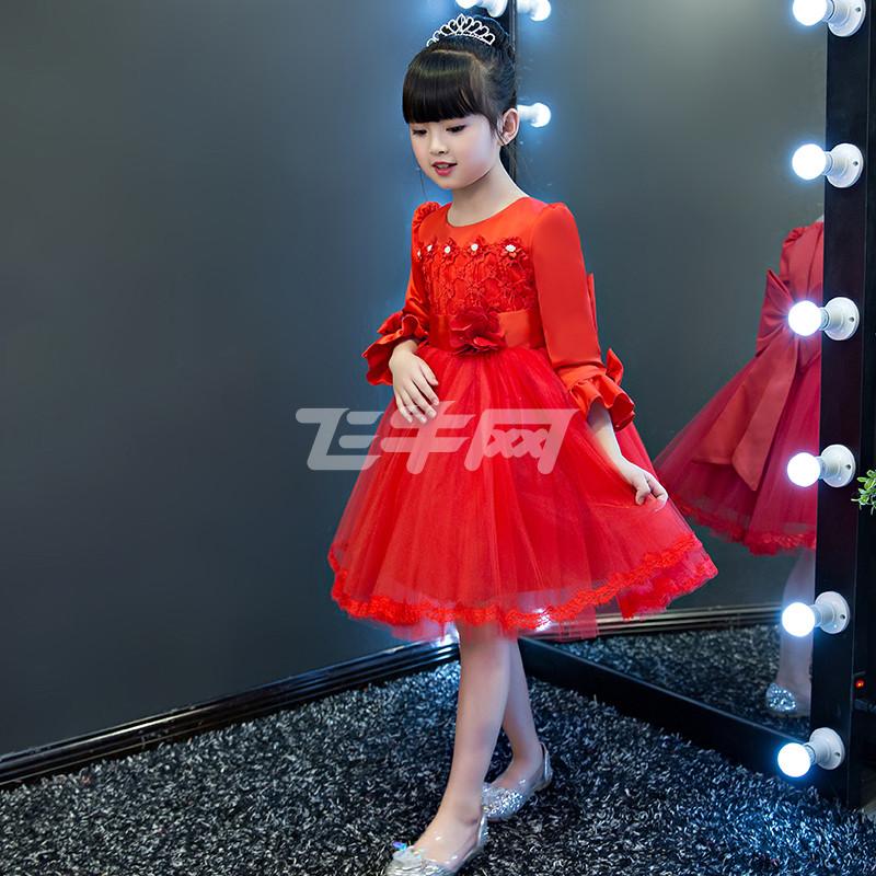 西原美童装女童秋装连衣裙儿童公主裙秋季长袖裙子秋冬加绒女孩礼服