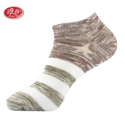 浪莎 5双装袜子男女情侣短袜船袜精梳棉运动薄款透气吸汗浅口隐形袜 休闲棉袜报价