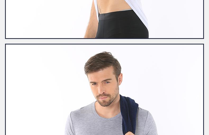 浪莎夏季男士纯色短袖T恤休闲工字背心木纤维舒适亲肤薄款打底衫新品