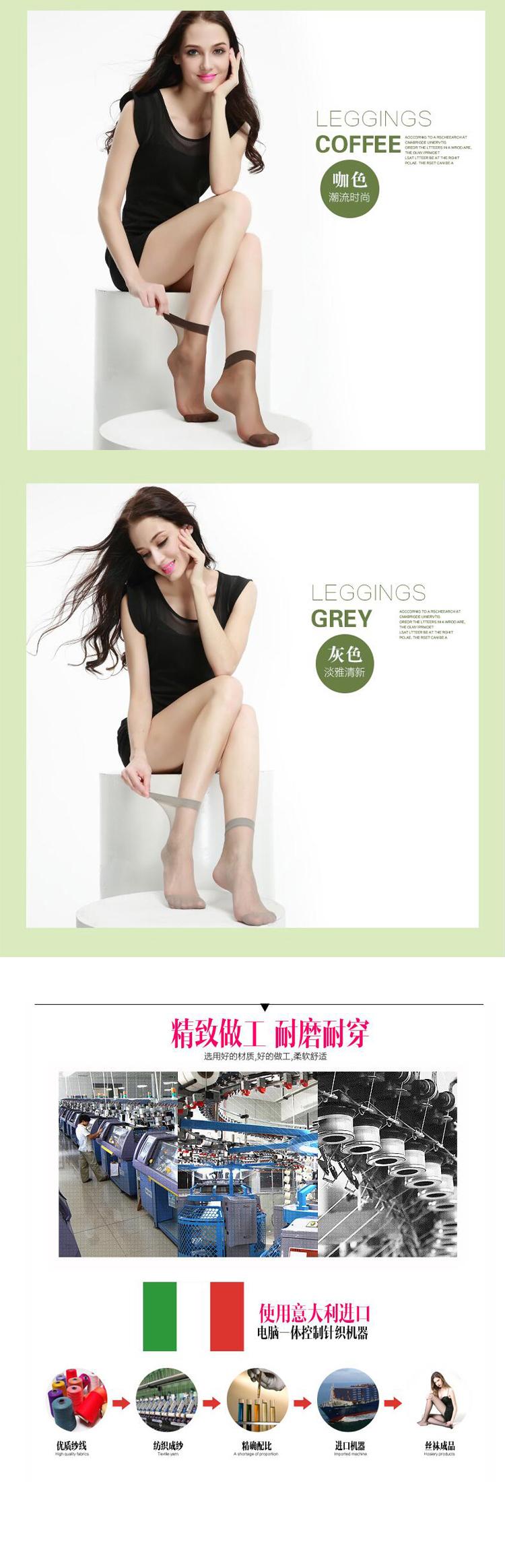 Z216浪莎5双装包芯丝短丝袜女防勾丝女士夏季薄款丝袜子女超薄肉色丝袜短袜新品