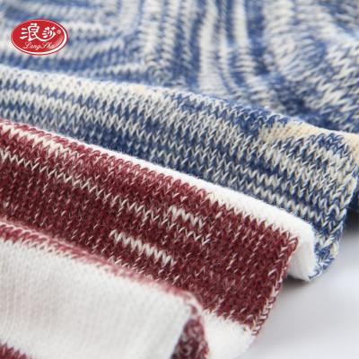 浪莎 5双装袜子男女情侣短袜船袜精梳棉运动薄款透气吸汗浅口隐形袜 休闲棉袜图片