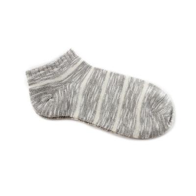 4双装浪莎男士夏季低帮浅口船袜条纹运动棉袜薄款透气短筒袜子日系潮流棉袜正品
