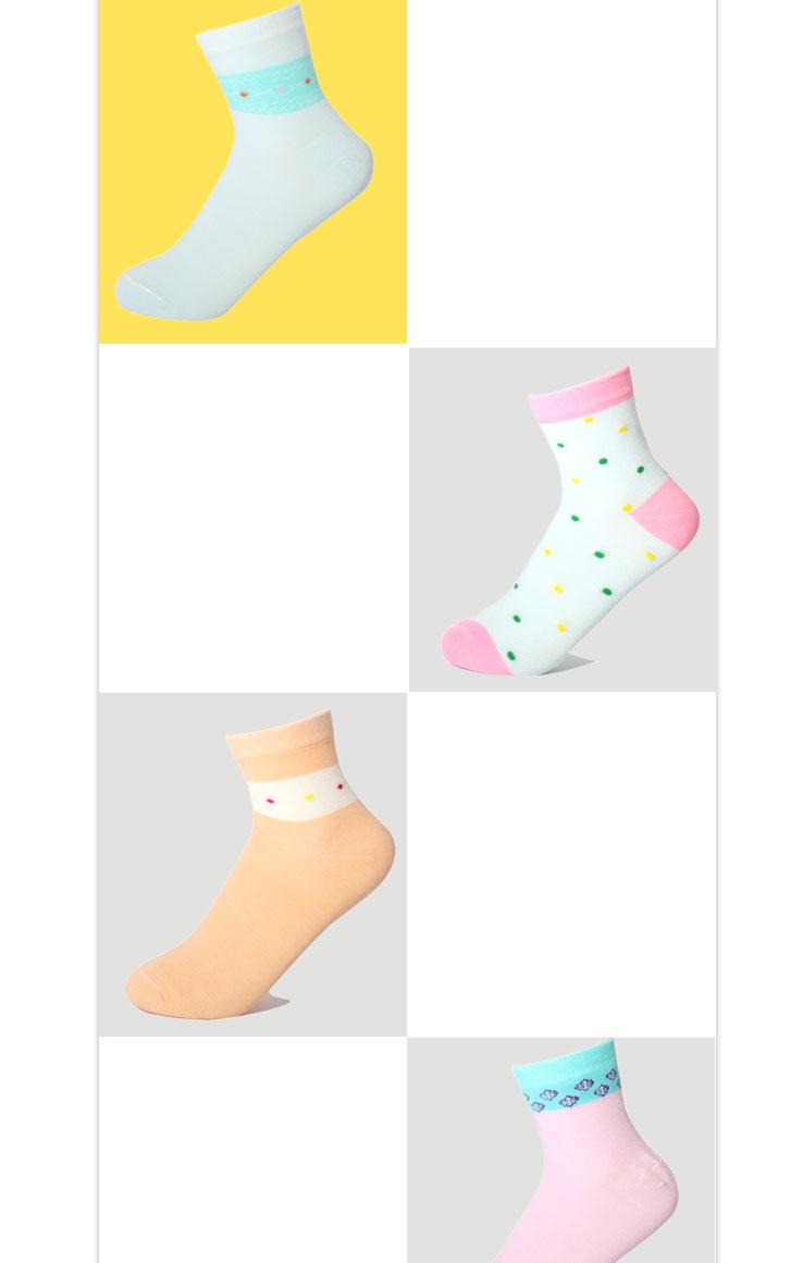 浪莎袜子 6双装女士精梳棉中筒薄棉袜吸湿排汗透气防臭女棉袜四季袜 清新可爱好吗