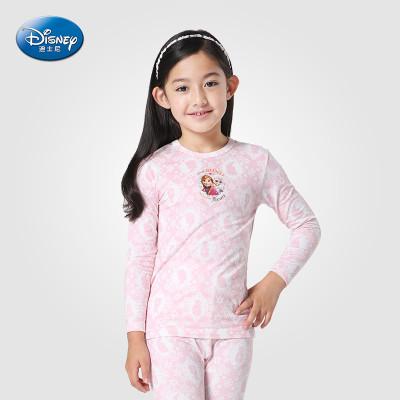 三枪 迪士尼 女童莫代尔内衣套装儿童长袖圆领