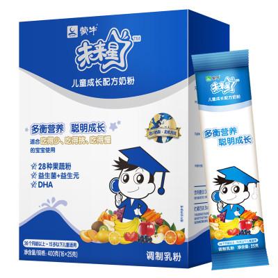 蒙牛奶粉官网积分_蒙牛(mengniu) 未来星儿童成长配方奶粉400g/克 3-12岁