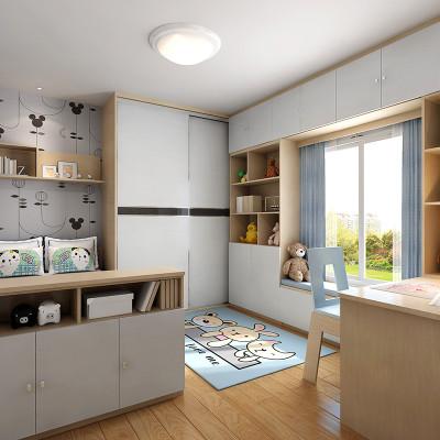 sogal索菲亚 衣柜 现代简约风格隔断柜木质推拉门书柜电脑桌整体儿童