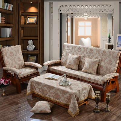 实木沙发垫 棉麻坐垫防滑慢回弹红木沙发垫
