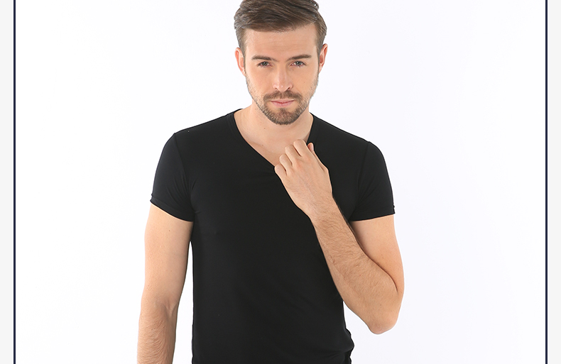 浪莎夏季纯色男士T恤木纤维短袖休闲工字背心舒适亲肤薄款打底衫怎么样