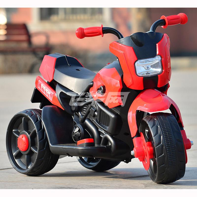 虹乐儿童电动车摩托车电动三轮车小孩可坐玩具车男女宝宝电瓶车新款
