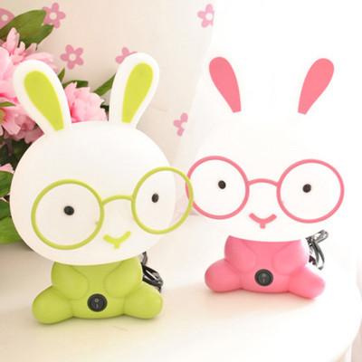萌兔卡通台灯 可爱男孩女孩儿童灯兔子磨砂护