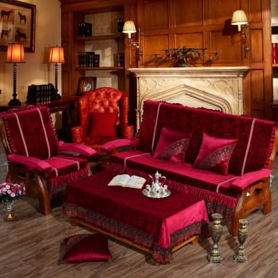 实木红木沙发垫带靠背实木沙发垫