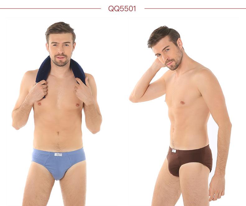 2条装浪莎男士内裤高档纯棉舒适印花平角裤透气三角裤头热卖
