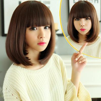 美元素假发女短发波波头修脸减龄可爱女生bobo头假