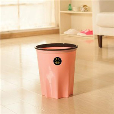 家英大号 带压圈八角环保垃圾桶卫生桶办公室家用厕所卫生间纸篓无盖