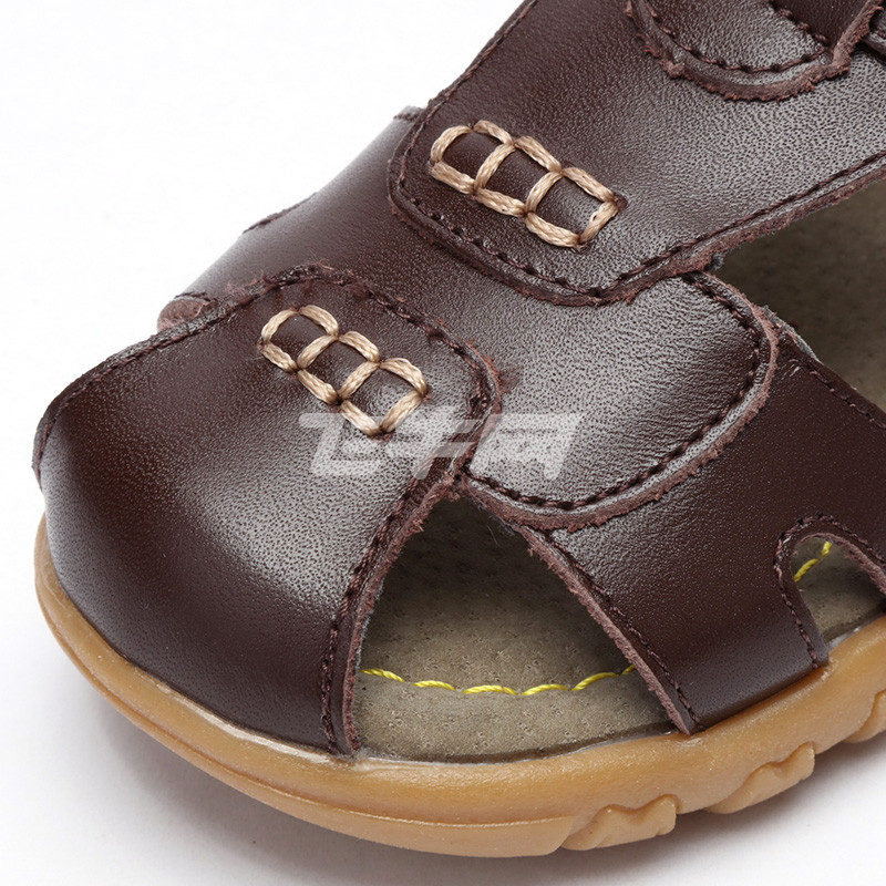 凉鞋男童包头