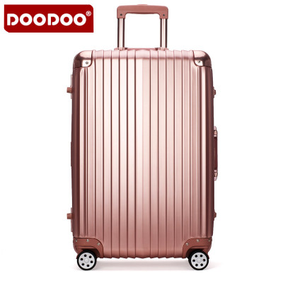 doodoo行李箱万向轮铝框拉杆箱20寸登机箱女旅行箱26