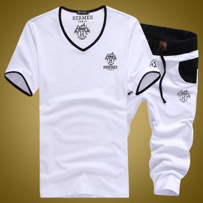 符号公社 2016夏季运动套装男士短袖短裤纯棉