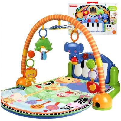 费雪踢踏钢琴健身架玩具琴健身器w2621